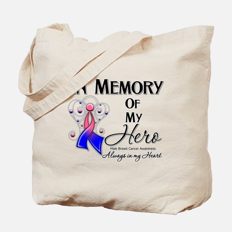 In Memory Male Breast Cancer Tote Bag