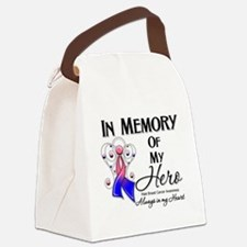 In Memory Male Breast Cancer Canvas Lunch Bag