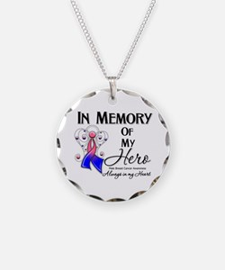 In Memory Male Breast Cancer Necklace