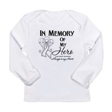 In Memory Lung Cancer Long Sleeve Infant T-Shirt