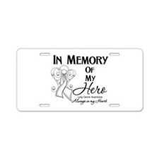 In Memory Lung Cancer Aluminum License Plate