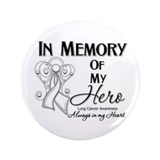 "In Memory Lung Cancer 3.5"" Button"