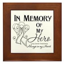 In Memory Lung Cancer Framed Tile