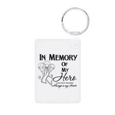 In Memory Lung Cancer Keychains