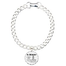In Memory Lung Cancer Charm Bracelet, One Charm