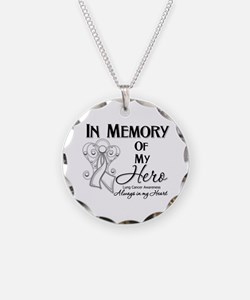 In Memory Lung Cancer Necklace