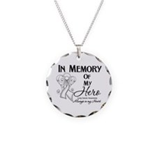 In Memory Lung Cancer Necklace Circle Charm