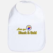 """Luv ya Black and Gold"" Bib"