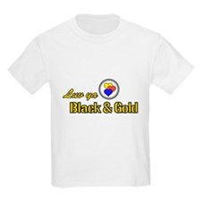 """Luv ya Black and Gold"" Kids T-Shirt"