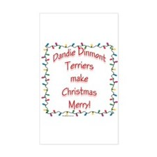 Dandie Merry Rectangle Decal