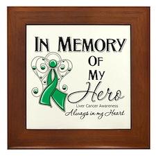 In Memory Liver Cancer Framed Tile