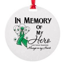 In Memory Liver Cancer Ornament