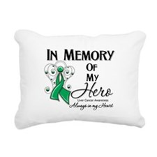 In Memory Liver Cancer Rectangular Canvas Pillow