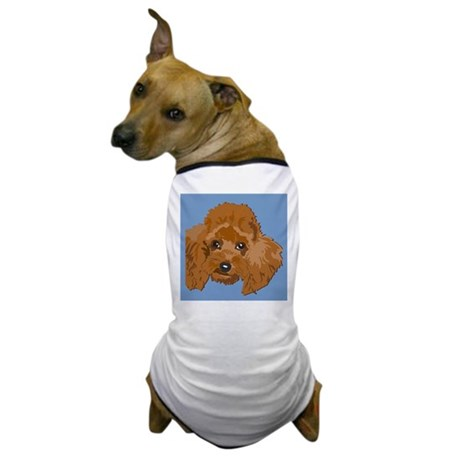 RED POODLE 1.png Dog T-Shirt