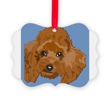 RED POODLE 1.png Ornament