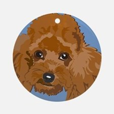 RED POODLE 1.png Ornament (Round)