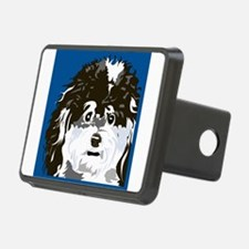 Poodle art blu.png Hitch Cover