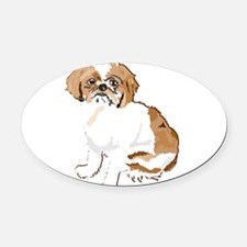JustBuddy1.png Oval Car Magnet