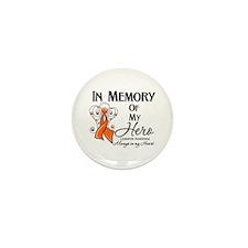 In Memory Hero Leukemia Mini Button (10 pack)