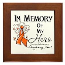 In Memory Hero Leukemia Framed Tile