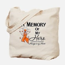 In Memory Hero Leukemia Tote Bag