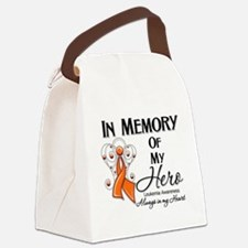 In Memory Hero Leukemia Canvas Lunch Bag