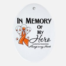 In Memory Hero Leukemia Ornament (Oval)