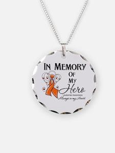 In Memory Hero Leukemia Necklace