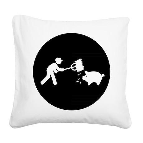 Farmer Square Canvas Pillow