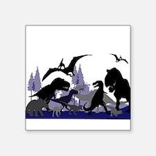 "DINOSAUR-MEDLEY.png Square Sticker 3"" x 3"""