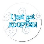 JUSTADOPTED22.png Round Car Magnet