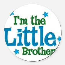 Im the Little Brother.png Round Car Magnet