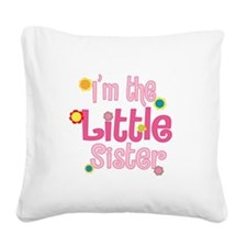 LittleSister2.png Square Canvas Pillow