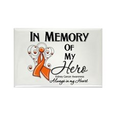 In Memory Kidney Cancer Rectangle Magnet