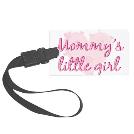 mommys little girl.png Large Luggage Tag