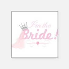 "BRIDE1.png Square Sticker 3"" x 3"""