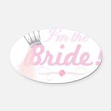 BRIDE1.png Oval Car Magnet