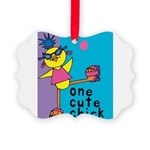 One Cute Chick.png Picture Ornament