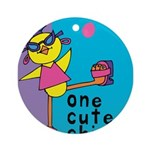 One Cute Chick.png Ornament (Round)