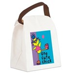 One Cute Chick.png Canvas Lunch Bag