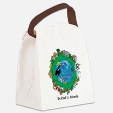 Be Kind To Animals.png Canvas Lunch Bag