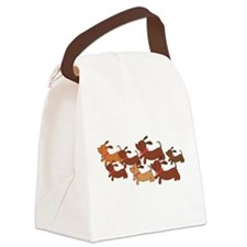 Running Weiner Dogs.png Canvas Lunch Bag