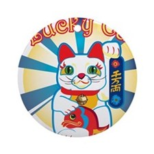 HAPPYCAT1.png Ornament (Round)