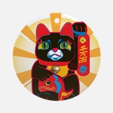 HAPPYCAT22.png Ornament (Round)