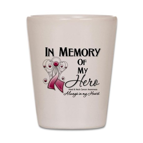 In Memory Head Neck Cancer Shot Glass