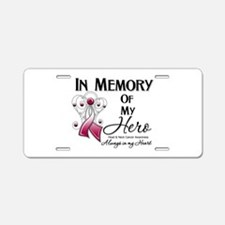 In Memory Head Neck Cancer Aluminum License Plate