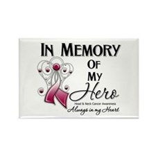 In Memory Head Neck Cancer Rectangle Magnet