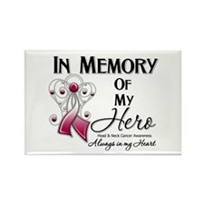In Memory Head Neck Cancer Rectangle Magnet (10 pa