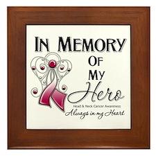 In Memory Head Neck Cancer Framed Tile