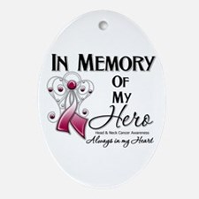 In Memory Head Neck Cancer Ornament (Oval)